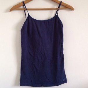 aeropostale navy blue cami, built in bra